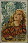 """Movie Posters:Mystery, Grissly's Millions (Republic, 1945). One Sheet (27"""" X 41"""").Mystery. Starring Paul Kelly, Virginia Grey, Donald Douglas, Eli..."""