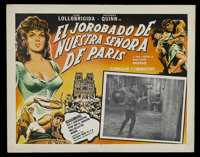 """The Hunchback of Notre Dame (Allied Artists, 1956). Mexican Lobby Card (12.75"""" X 16.25""""). Horror. Starring Gin..."""