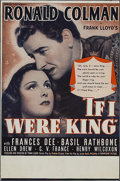 "Movie Posters:Adventure, If I Were King (Paramount, 1938). Herald (6"" X 9""). Adventure.Starring Ronald Colman, Basil Rathbone, Frances Dee, Ellen Dr..."