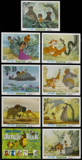 """Movie Posters:Animated, The Jungle Book (Buena Vista, R-1970s). Lobby Card Set of 9 (11"""" X 14""""). Family. Directed by Wolfgang Reitherman. Starring t... (Total: 9 Items)"""
