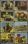 "Movie Posters:Adventure, King Solomon's Mines (MGM, 1950). Lobby Card Set of 8 (11"" X 14"").Adventure. Starring Deborah Kerr, Stewart Granger and Ric...(Total: 8 Items)"