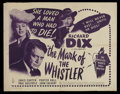"""Movie Posters:Mystery, The Mark of the Whistler (Columbia, 1944). Half Sheet (22"""" X 28"""").Drama. Starring Richard Dix, Janis Carter, Porter Hall, P..."""