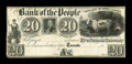 Canadian Currency: , Toronto, UC- The Bank of the People $20 Ch. 570-12-20P Proof. ...