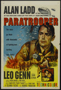 "Movie Posters:War, Paratrooper (Columbia, 1953). One Sheet (27"" X 41""). War. StarringAlan Ladd, Leo Genn, Susan Stephen, Harry Andrews and Ant..."