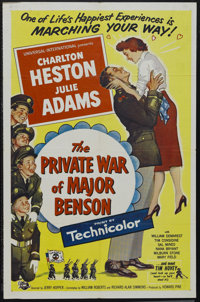 "The Private War of Major Benson (Universal International, 1955). One Sheet (27"" X 41""). Comedy. Starring Charl..."