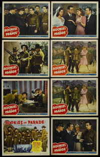 """Rookies on Parade (Republic, 1941). Title Lobby Card (11"""" X 14"""") and Lobby Cards (7) (11"""" X 14""""). Mu..."""
