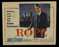 """Movie Posters:Hitchcock, Rope (Warner Brothers, 1948). Title Lobby Card (11"""" X 14"""").Thriller. Directed by Alfred Hitchcock. Starring James Stewart, ..."""