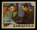 "Movie Posters:Comedy, Saratoga (MGM, 1937). Lobby Card (11"" X 14""). Romantic Comedy.Starring Clark Gable, Jean Harlow, Lionel Barrymore, Frank Mo..."