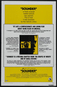"""Sounder (20th Century Fox, 1972). One Sheet (27"""" X 41""""). Drama. Starring Cicely Tyson, Paul Winfield, Kevin Ho..."""