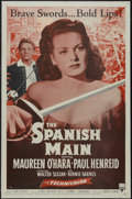 "Movie Posters:Adventure, The Spanish Main (RKO, R-1954). One Sheet (27"" X 41"") Style A.Adventure. Starring Maureen O'Hara, Paul Henreid, Walter Slez..."