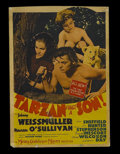 "Movie Posters:Adventure, Tarzan Finds a Son (MGM, 1939). Midget Window Card (8"" X 11.5"").Action Adventure. Starring Johnny Weissmuller, Maureen O'Su..."