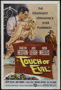 "Movie Posters:Film Noir, Touch Of Evil (Universal International, 1958). One Sheet (27"" X41""). Crime Drama. Starring Charlton Heston, Janet Leigh, Or..."