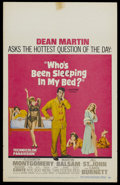 """Movie Posters:Comedy, Who's Been Sleeping in My Bed? (Paramount, 1963). Window Card (14"""" X 22""""). Comedy. Starring Dean Martin, Elizabeth Montgomer..."""