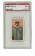 Baseball Cards:Singles (Pre-1930), 1909-11 T206 Frank Oberlin PSA NM 7. High-quality example from the famed T206 issue shows exactly how strongly this tobacco...