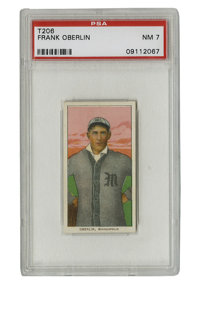 1909-11 T206 Frank Oberlin PSA NM 7. High-quality example from the famed T206 issue shows exactly how strongly this toba...