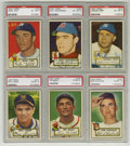 Baseball Cards:Lots, 1952 Topps Baseball PSA EX-MT 6 Group Lot of 6. A half dozen PSA 6cards from the hobby favorite 1952 Topps set are being m... (Total:6 Items)