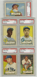 Baseball Cards:Lots, 1952 Topps Baseball PSA-Graded Group Lot of 5. Here we offer five graded cards from the highly sought-after 1952 Topps issu... (Total: 5 Items)
