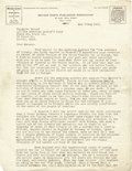 "Military & Patriotic:WWI, Emma Goldman Typed Letter Signed in full. Two pages, 8.5"" x 11"" on Mother Earth Publishing Association letterhead, New York,..."