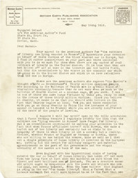 "Emma Goldman Typed Letter Signed in full. Two pages, 8.5"" x 11"" on Mother Earth Publishing Association letterh..."