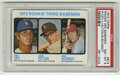 Baseball Cards:Singles (1970-Now), 1973 Topps Baseball Rookie 3rd Basemen #615 Ron Cey/Mike Schmidt PSA NM-MT 8. Important rookie card of HOF third baseman Mi...