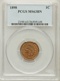 Indian Cents: , 1898 1C MS63 Brown PCGS. PCGS Population (43/65). NGC Census:(39/112). Mintage: 49,823,080. Numismedia Wsl. Price for prob...
