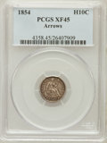 Seated Half Dimes: , 1854 H10C Arrows XF45 PCGS. PCGS Population (27/424). NGC Census:(7/520). Mintage: 5,740,000. Numismedia Wsl. Price for pr...
