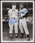Baseball Collectibles:Photos, Mickey Mantle & Willie Mays Signed Photograph. ...