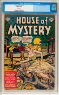 Golden Age (1938-1955):Horror, House of Mystery #1 (DC, 1952) CGC FN/VF 7.0 Off-white pages....