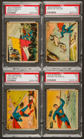 "Non-Sport Cards:Lots, 1940 Gum Inc. ""Superman"" PSA Graded Group of (4). ..."
