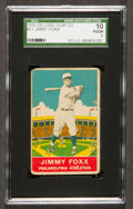 Baseball Cards:Singles (1930-1939), 1933 Delong Jimmy Foxx #21 SGC 10 Poor 1....