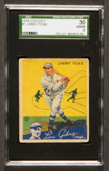 Baseball Cards:Singles (1930-1939), 1934 Goudey Jimmy Foxx #1 SGC 30 Good 2....