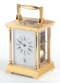 Timepieces:Clocks, AN ARNEX FRENCH GILT BRONZE CARRIAGE CLOCK WITH REPEATER . 20thcentury. Marks: Arnex 5 MADE IN FRANCE. 6-1/4 x 4-1/8 x ...
