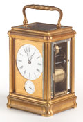 Decorative Arts, French:Other , A SWISS BRASS CARRIAGE CLOCK RETAILED BY HENRY CAPT . Circa 1900.Marks: HENRY CAPT, GENEVE; mark to mechanism: D (...