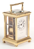 Clocks & Mechanical:Clocks, A BRASS CARRIAGE CLOCK FOR TIFFANY & CO. WITH REPEATER . Early 20th century. Retailed by Tiffany & Co., New York, New York. ...