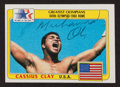 Boxing Collectibles:Autographs, 1983 Topps Olympians Muhammad Ali #92 Dual Signed Card....