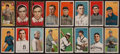 Baseball Cards:Lots, 1909-1912 T205 Gold Border & T206 White Border Tobacco CardCollection (156). ...