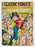 Golden Age (1938-1955):Classics Illustrated, Classic Comics #23 Oliver Twist - First Edition - Double Cover (Gilberton, 1945) Condition: FN-....