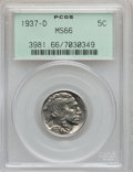 Buffalo Nickels: , 1937-D 5C MS66 PCGS. PCGS Population (1641/85). NGC Census:(1863/88). Mintage: 17,826,000. Numismedia Wsl. Price for probl...
