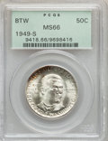 Commemorative Silver: , 1949-S 50C Booker T. Washington MS66 PCGS. PCGS Population (402/27). NGC Census: (351/56). Mintage: 6,004. Numismedia Wsl. ...