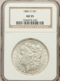 Morgan Dollars: , 1886-O $1 AU55 NGC. NGC Census: (758/2778). PCGS Population(751/2803). Mintage: 10,710,000. Numismedia Wsl. Price for prob...