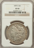 Morgan Dollars: , 1899-S $1 XF45 NGC. NGC Census: (33/2283). PCGS Population(61/3860). Mintage: 2,562,000. Numismedia Wsl. Price for problem...