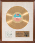 Music Memorabilia:Awards, Led Zeppelin III RIAA Gold Record Award (Atlantic7201, 1970). ...