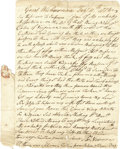 """Autographs:Military Figures, (American Revolution) Autograph Letter Signed of Salem,Massachusetts ship's master Thomas Newman, 1 page, 5.75"""" x 8.75"""",""""..."""