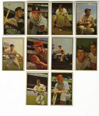 1953 Bowman Color Near Set (152/160). One hundred fifty-two cards from the 1953 Bowman Color issue are offered here -- e...