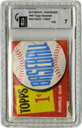 Baseball Collectibles:Others, 1960 Topps Baseball One-Cent Wax Pack GAI NM 7. Here we offer a sealed and slabbed penny pack from the 1960 Topps issue, a ...