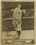 Autographs:Sports Cards, 1939 Play Ball Joe DiMaggio Signed Card #1. Astounding #1 card fromthe 1940 Play Ball issue that features the HOF legend J...