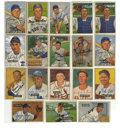 Autographs:Sports Cards, 1951-52 Bowman Baseball Signed Cards Group Lot of 18. From theclassic 1951 and 1952 Bowman baseball issue we offer this sa...