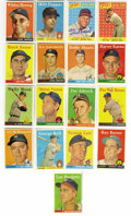 Autographs:Sports Cards, 1958 Topps Baseball Signed Cards Group Lot of 154, 137 Unique.Group of 154 cards from the 1958 Topps issue, all signed. H...