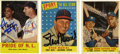 Autographs:Sports Cards, 1958-63 Topps Baseball Legends Signed Cards Group Lot of 3. Amazingtrio of signed cards is offered here, with the rare opp...