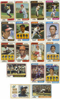 Autographs:Sports Cards, 1974 Topps Baseball Near Set (654/660) with Several Signed Cards.Near set of the' 75 Topps issue with many of the cards be...